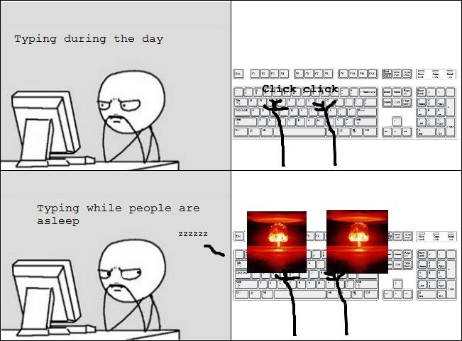 typing rage memedroid