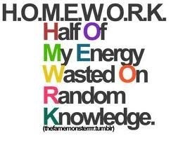 lots of homework