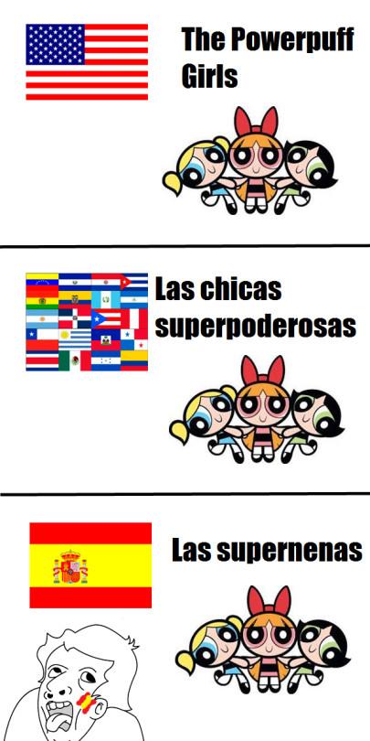 Españoles dañando el español
