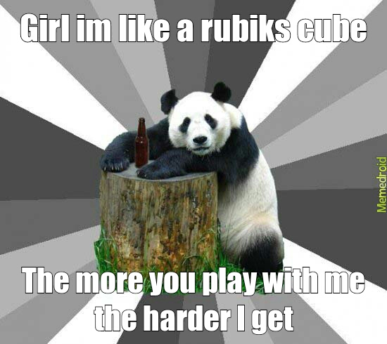 Rubix cube pick up line