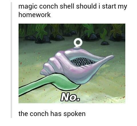 All Hail The Magic Conch Meme By Chickenfries42 Memedroid