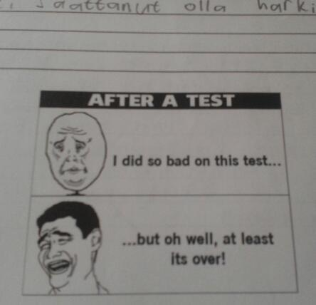 My history teacher added this to the end of the test