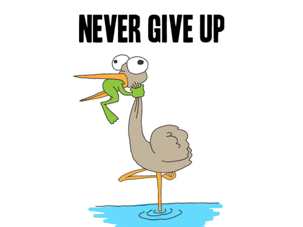 "I Give Up Meme: ""never Give Up"" By Chochomama129"