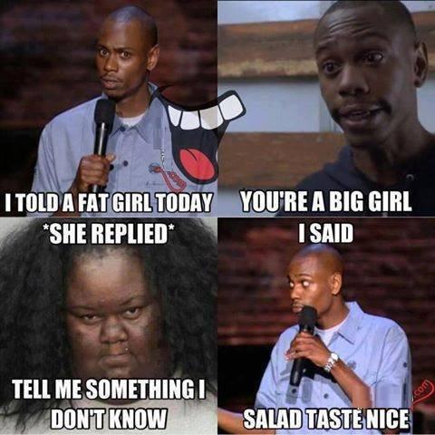 Fat girl meme