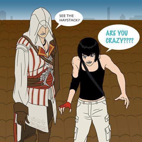 Anime Laws Memes >> assassins creed beakin the laws,of physics - Meme by NINJA-KID-71 :) Memedroid