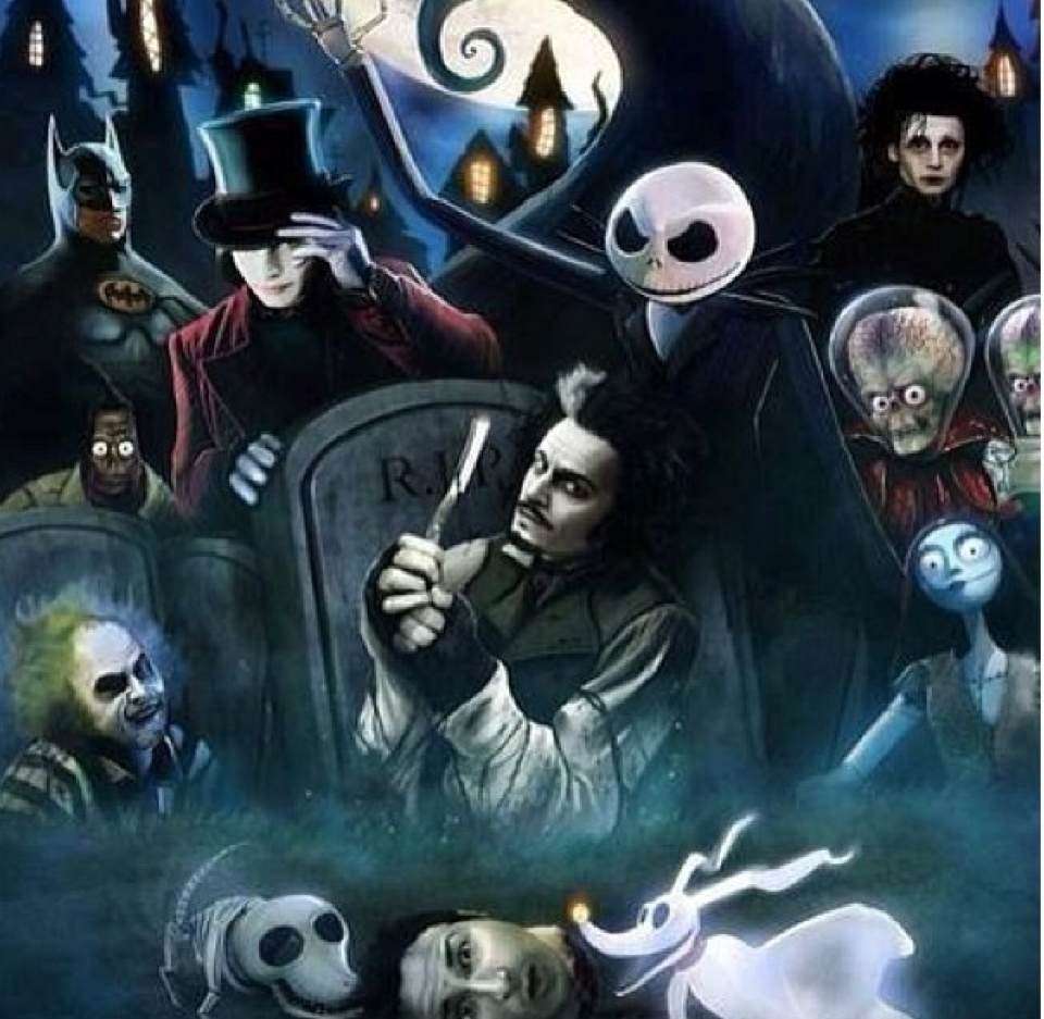 all of the most amazing movies made by tim burton meme by