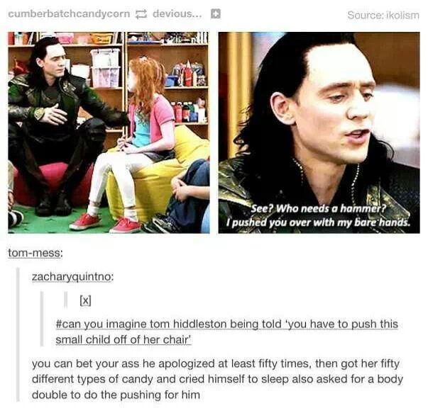 Tom Hiddleston is just the best of people playing the worst