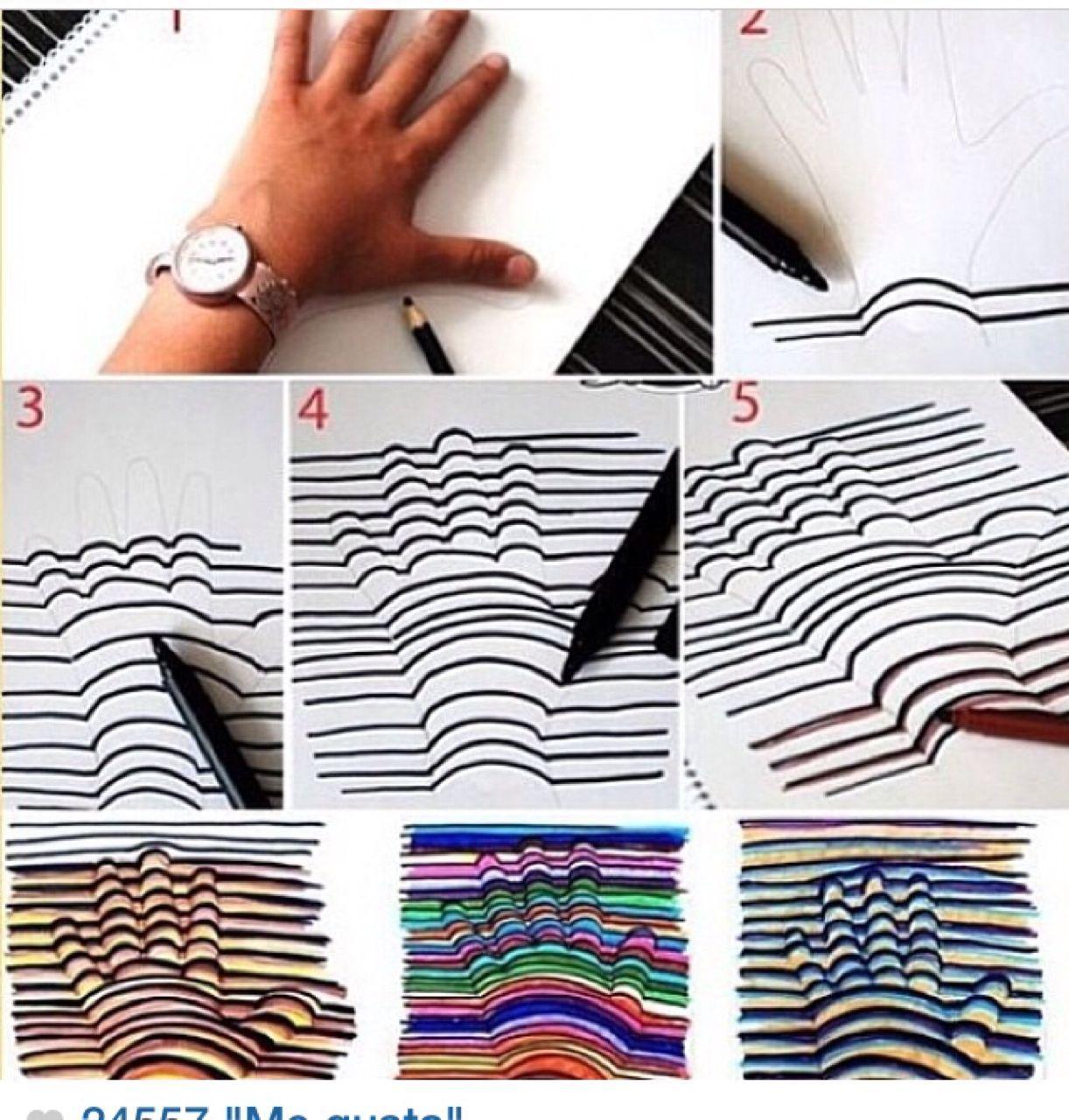 Как нарисовать 3d рисунок своими руками