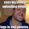 good guy upvote