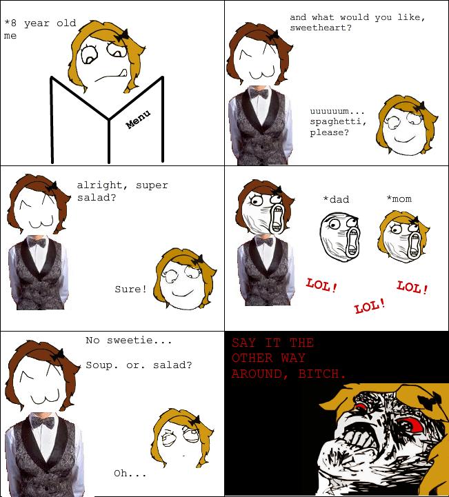 Troll waitress - meme