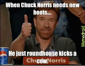 Chuck Norris` boots - meme
