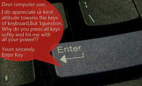 Enter key. lol. - meme