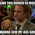 Whenever I eat burgers, the condiment waitress ends up with me with out the -ents.