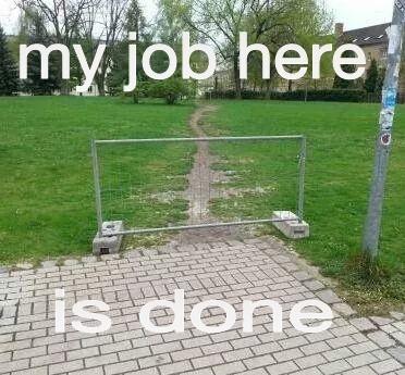 it's not my job - meme