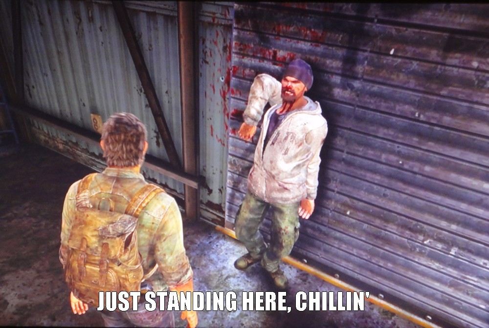 Fun with glitches in The Last Of Us - meme