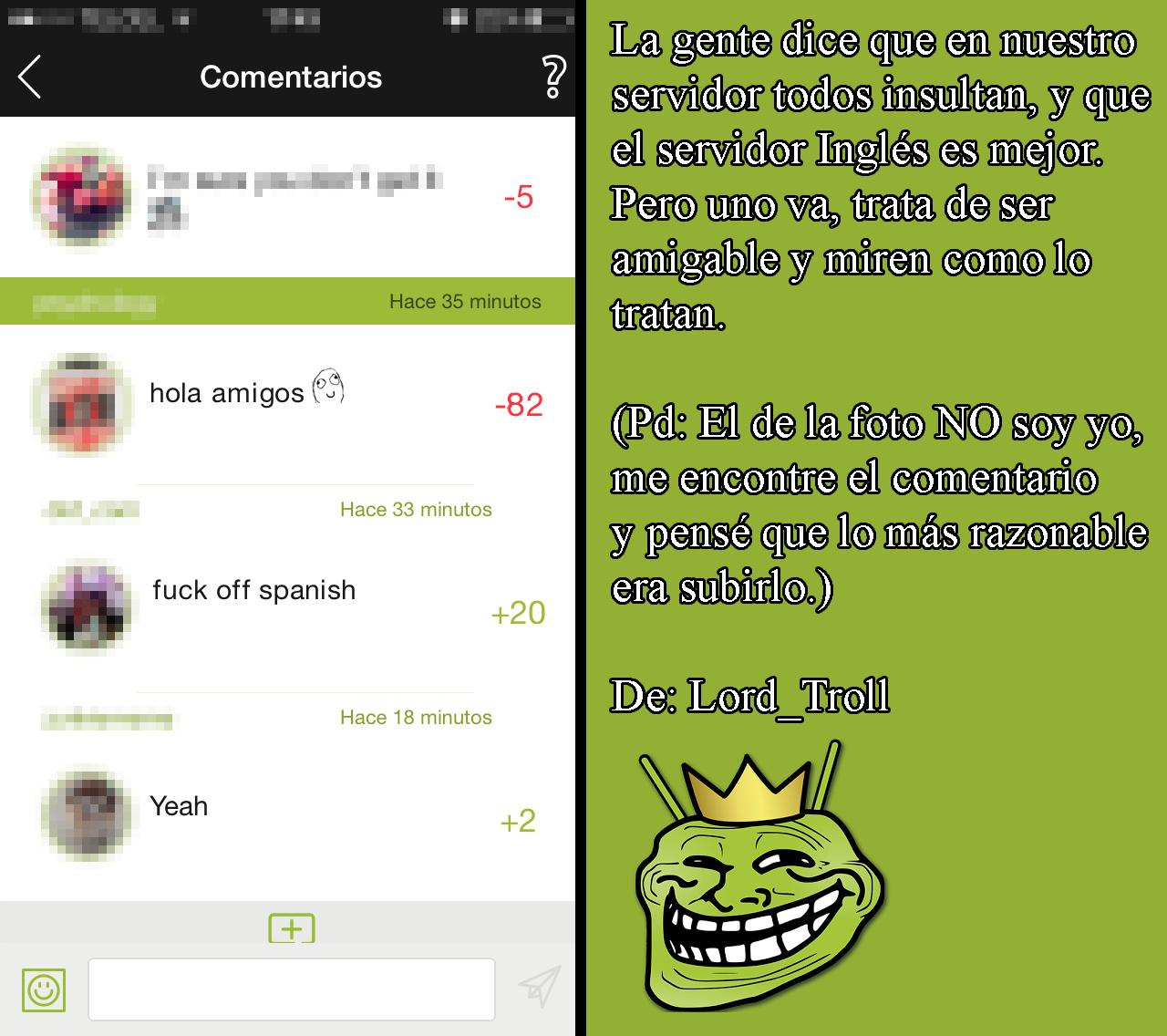 El servidor Inglés nos insulto... D: - meme