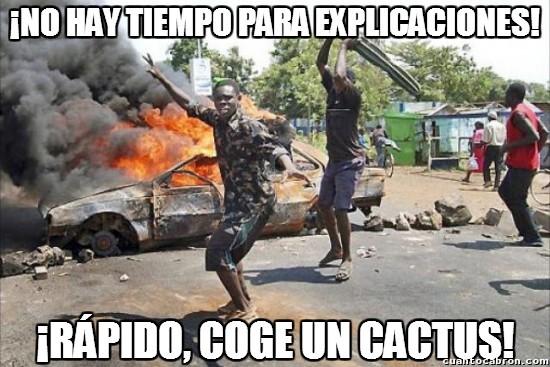a la ****** el agua, yo usare un cactus - meme