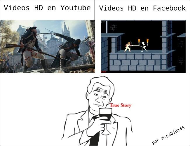 HD Youtube vs. HD Facebook - meme