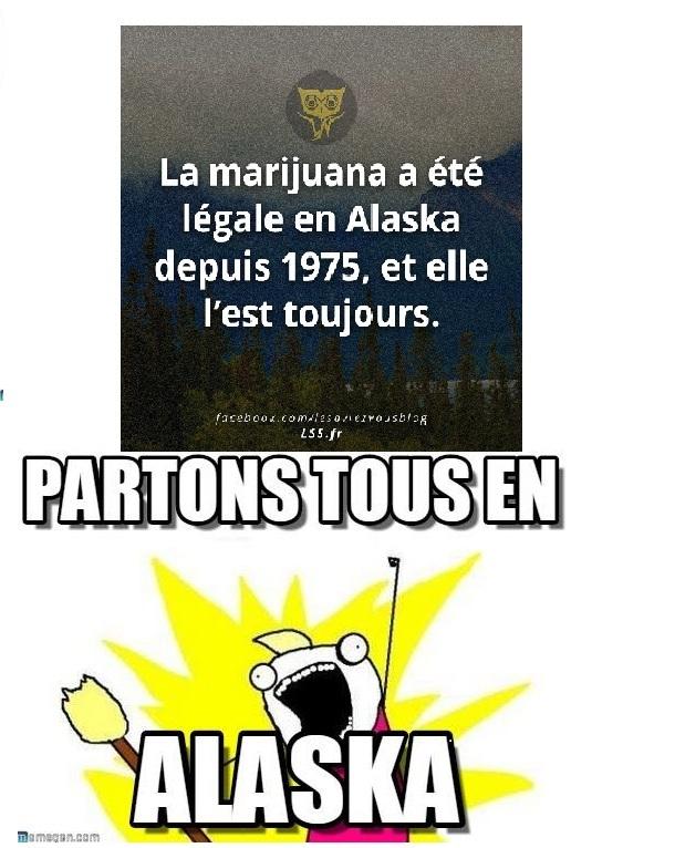 La Marijuana en Alaska - meme