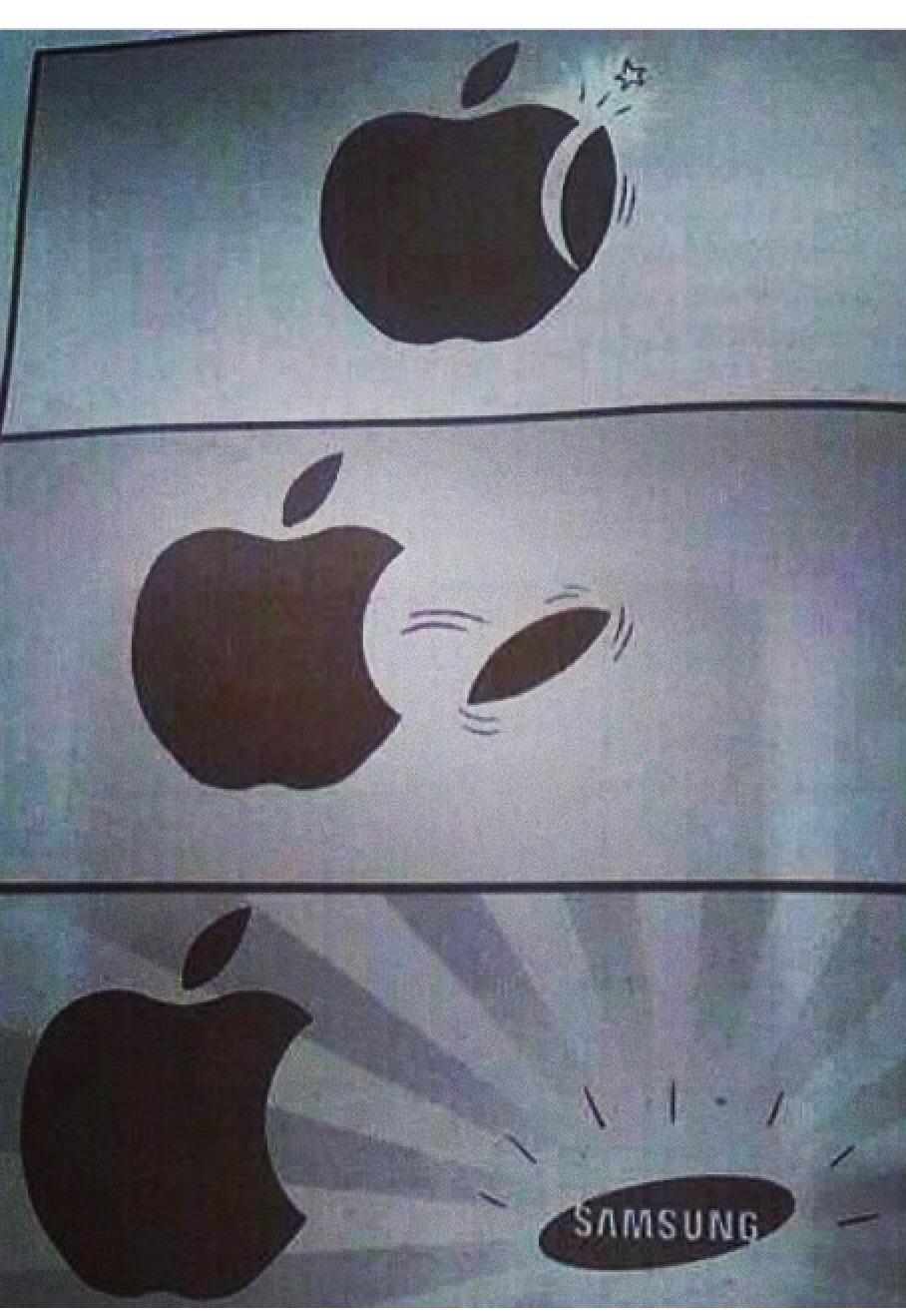 Samsung y Apple - meme
