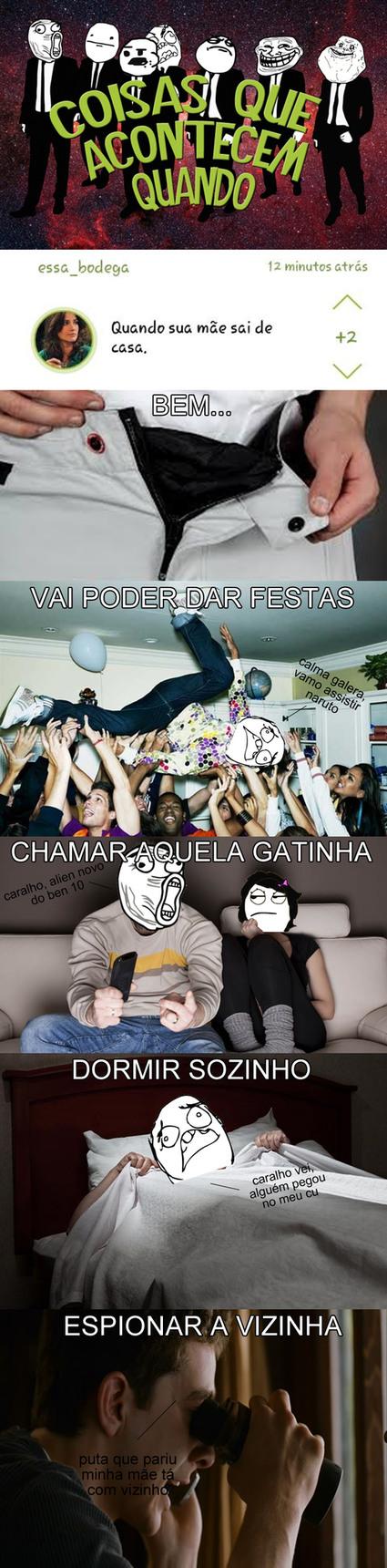 ANDAR PELADO PELA CASA - meme