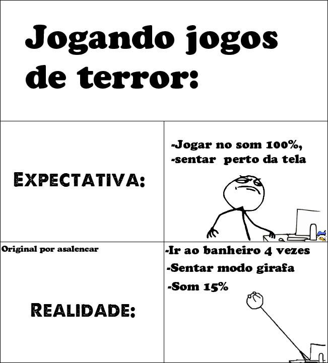 Jogando Jogos De Terror - Original Por asalencar - meme