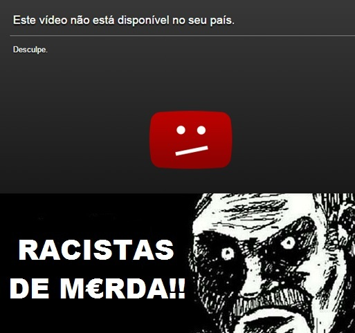 Racismo no Youtube! - meme