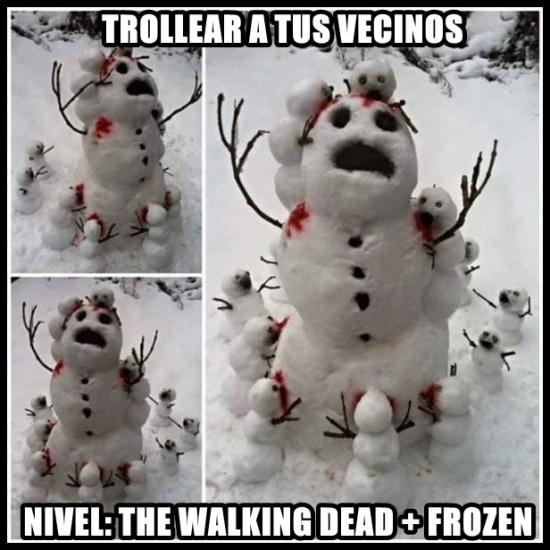 Hazme un muñeco de niev.....argg - meme