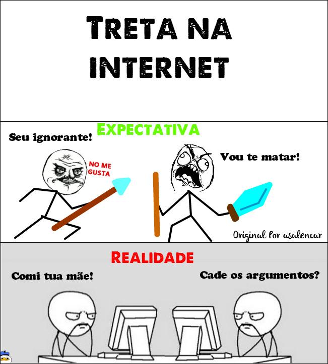 Treta na Internet - meme