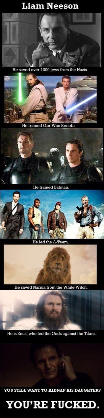 Liam Neeson the Boss - meme