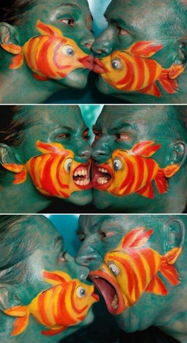 Fisch = Kiss - meme