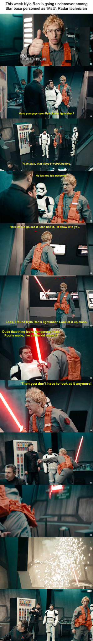 Star Wars Undercover Boss Starkiller Base Snl Meme By Valeriaa