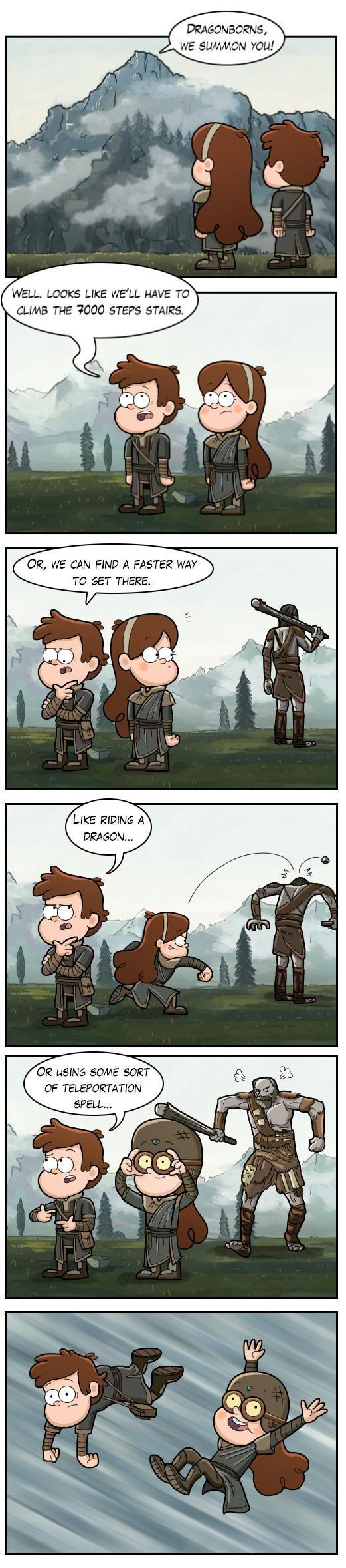 Dragonborns, we summon you! - meme