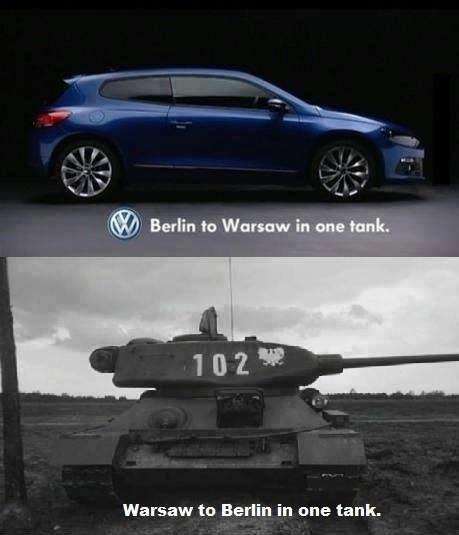 Berlin to warsaw - meme