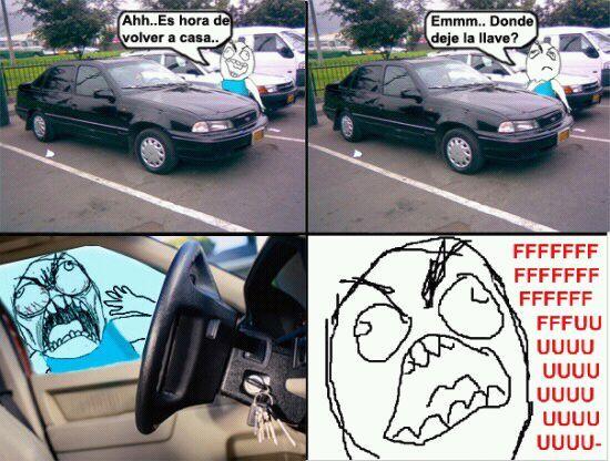 malditas llaves del carro - meme