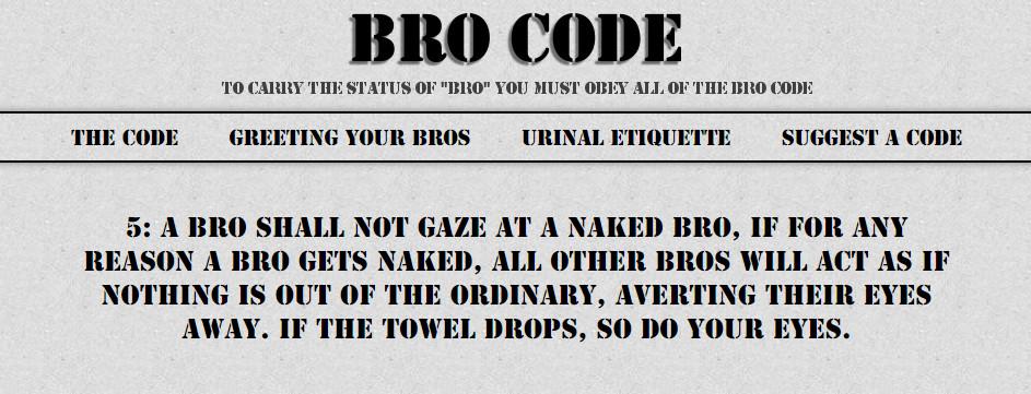 the bro code #5 - meme