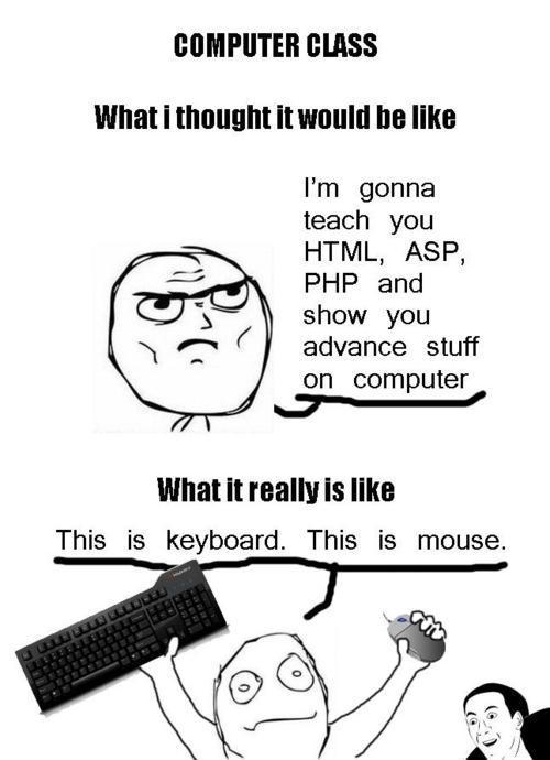 Computer class - meme