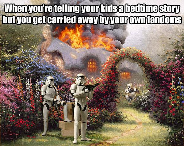 bedtime story - meme