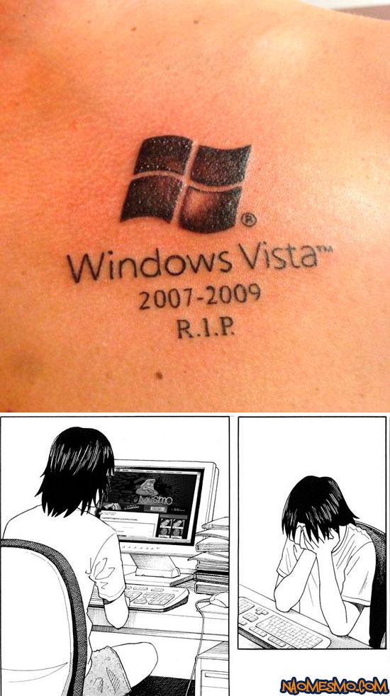 tatuagem bosta do dia - meme