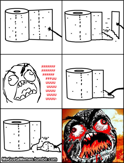 Toilet paper troll - meme