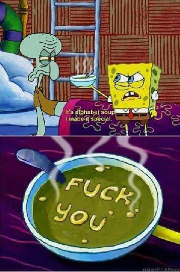 Alphabet Soup - meme