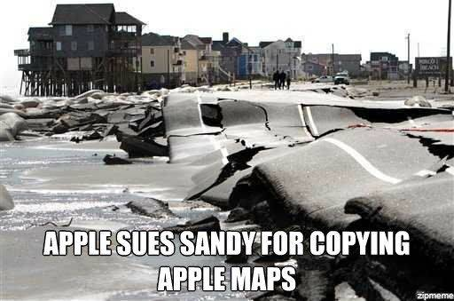 apple maps - meme