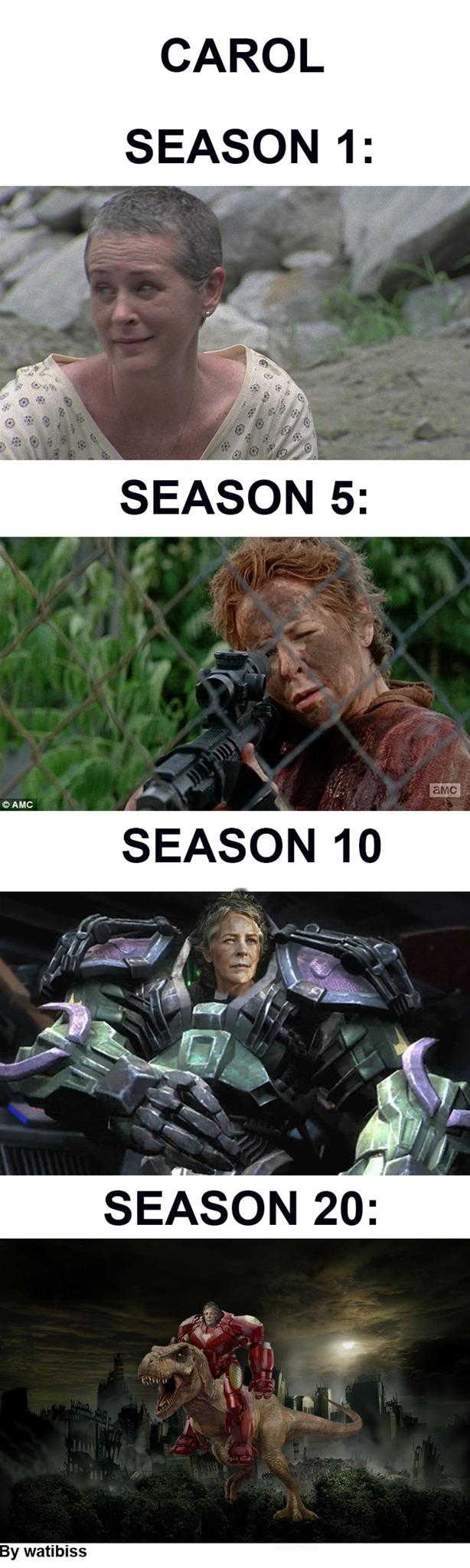 Carol is more badass than expected - meme