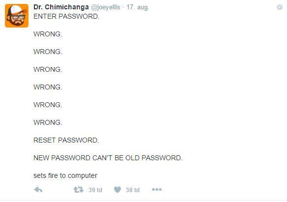 Password reset - meme