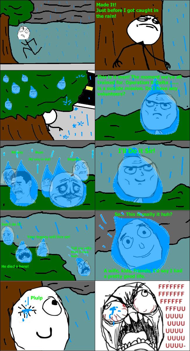 Prepare for the Raindrop attacks - meme