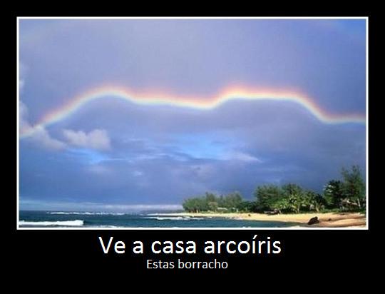 Ve a casa arcoiris  - meme