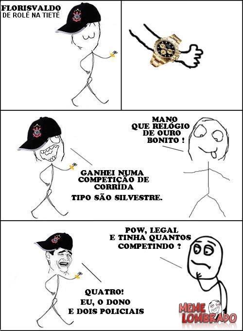 GANHEI EM UMA CORRIDA - meme