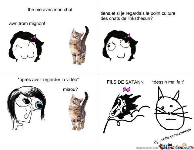 les chats=satan - meme