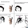 les chats=satan