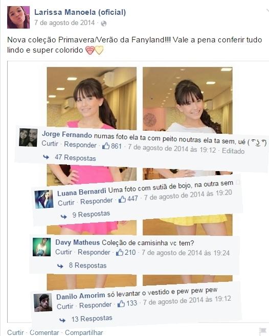 Comentários na página da Maria J. Pt. 9 - meme